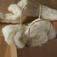 50g Pack of Carded Tussa Silk and Merino Wool